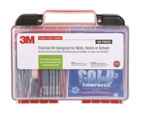 3M First Aid Kit – 169 Pieces – Includes Quick Acting Granules To Stop Bleeding