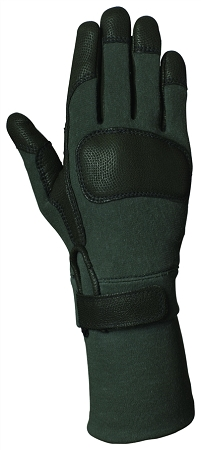Ansell – style #46405 – Long Combat Glove – Fire & Cut Resistant – Kevlar Grip – Textured Leather