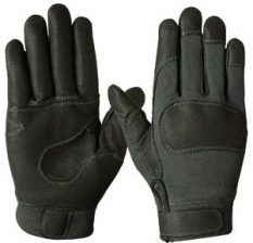 Short Combat Glove – Fire & Cut Resistant – Kevlar Grip – Textured Leather