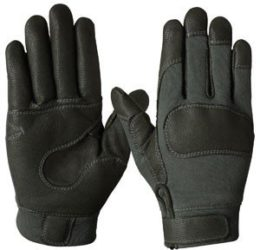 Ansell – Style #46404 – Short Combat Glove – Fire & Cut Resistant – Kevlar Grip – Textured Leather