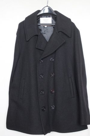 Government Issued Men's Wool Pea Coat Double Breasted With Quilted Satin Lining – 3/4 Length