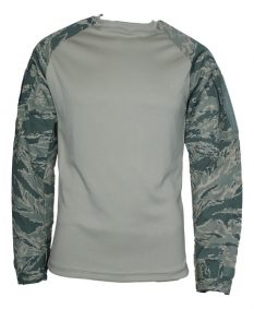 US Made Combat Shirt Crew W/ Sleeve Pockets – Sand-ABU