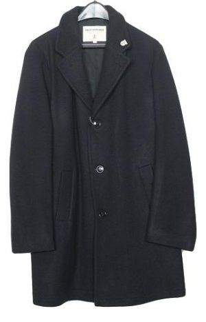 Men's Wool Long Peacoat Single Breasted With Satin Lining
