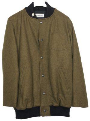 Men's Wool Fidelity Bomber Varsity Jacket – Front Snaps