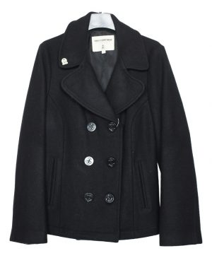 Women's Wool Fidelity Double Breasted Short Peacoat – Satin Lining