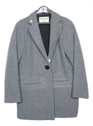 Women's Wool Fidelity Single Breasted Single Button Blazer Jacket