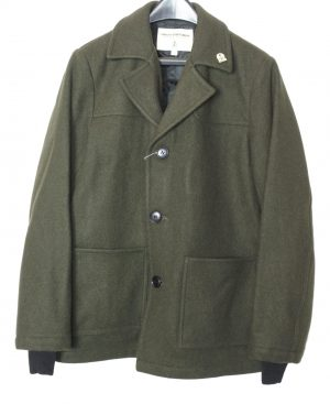 Men's Wool 3/4 Coat – Large Front Pockets – Single Breasted – Satin Lining