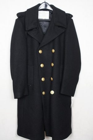 Government Issued U.S.N. Long Wool Bridge Coat