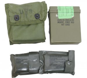 GI First Aid Pouch With Plastic Box + All Supplies