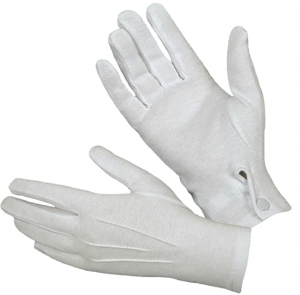 Military Uniform Dress Parade Gloves With Snaps