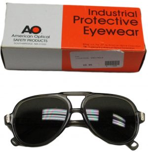 Vintage AO American Industrial Protective Safety Eyewear – Safety Glasses /Goggles – Dark Lens