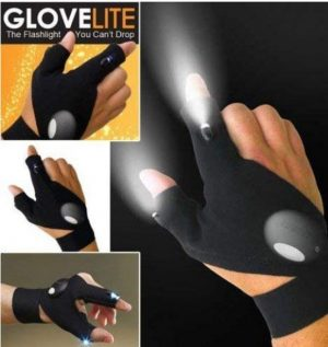 LED Flashlight Finger Glove – Right Or Left Hand – 1 Glove