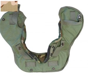 GI US Military Interceptor Body Armor Yoke And Collar With Soft Plate Inserts