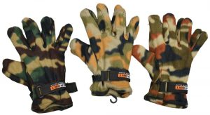 Sport World Blue Thermal Insulation Polar Fleece Gloves – 6 Pairs Assorted Camouflage