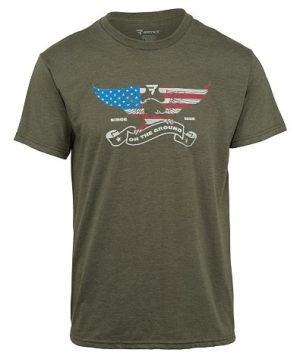 Bates – Men's American Eagle On The Ground Graphic Short Sleeve T-shirt