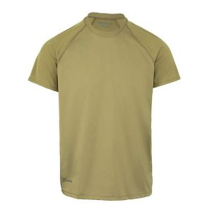 Bates – Men's Performance Short Sleeve T-shirt – 100% Moisture Wicking Polyester Stretch Fabric – With Breathable Mesh Back Panel