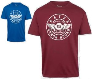 Bates – Men's Shield Wings Honor Bound Graphic Short Sleeve T-shirt