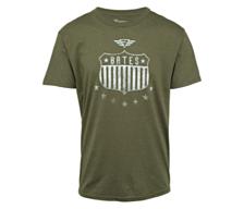 Bates- Men's Shield And Stars GWP Graphic Short Sleeve T-shirt