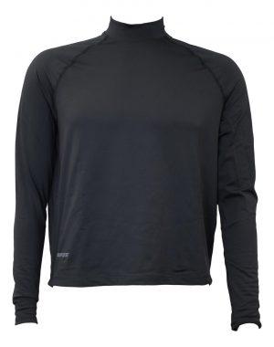 Bates Men's Mock Neck Long Sleeve Micro Fleece Shirt, Black – Size 2X