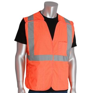 PIP Type R Class 2 Solid Breakaway Safety Vest with Three Pockets