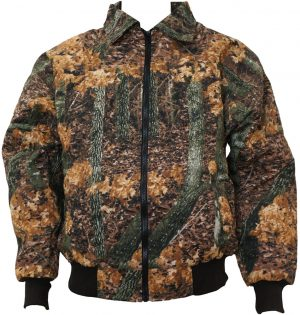 Hunting Camo Mid Season Jacket – Full Zipper – Quilted Lining – Made In USA